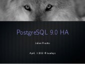 Postgresql 9.0 HA at LOADAYS 2012
