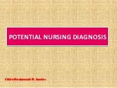 Potential nursing diagnosis