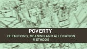 Poverty - its meaning, definitions,...