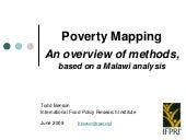 Poverty Mapping: An overview of met...