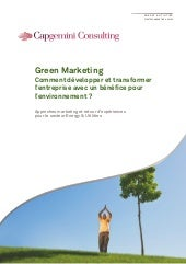Point de Vue   :   Green Marketing ?