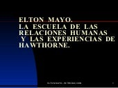 Power Point De Elton Mayo