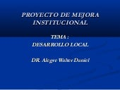 Curso de desarrollo local - ISCMLL ...
