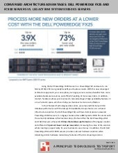 Converged architecture advantages: Dell PowerEdge FX2s and FC830 servers vs. legacy IBM System x3850 X5 servers