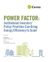 Power factor: Investor priorities c...