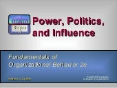 Power, Influence and Politics