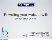 Powering your website with realtime...