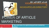 Power Of Article Marketing