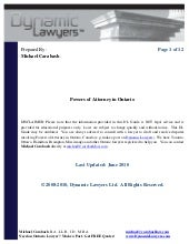 Power of attorney form ontario