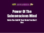 Power Of The Subconscious Mind: Unt...