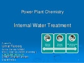 Power plant chemistry internal water treatment