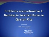 Problems encountered in e-banking i...