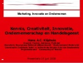 Powerpoint `Creativiteit, Innovatie...