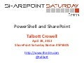 PowerShell and SharePoint