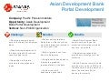 PPI_Asian Development Bank Portal Development_Success story