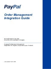Pp Order Mgmt Integration Guide