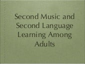 second music & language among adults