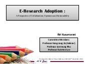 E-Research adoption : A perspective...