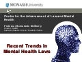 Recent trends in mental health laws, Prof Bernadette McSherry
