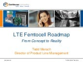 LTE Femtocell Roadmap- From Concept...