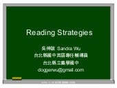 Reading Strategies in EFL classroom...