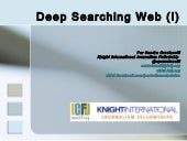 Deep Web searching