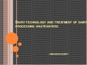 water treatment and diary technology