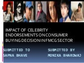 Ppt on impact of celebrity endorsem...