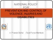 Draft Policy on Injury Violence and...