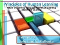 Human Learning and Second Language Acquisition