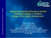 Integrating Financing Schemes to Ac...