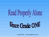 Ppt, read alone