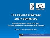 The Council of Europe and e-democracy