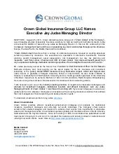 Crown Global Insurance Group LLC Names Executive Jay Judas Managing Director