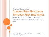 Promoting Climate Risk Reduction th...