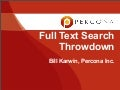 Full Text Search Throwdown