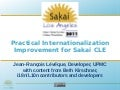 Practical Internationalization Improvement for Sakai CLE