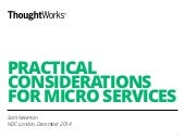 Practical microservices  - NDC 2014