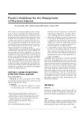 Practice guidelines for the managem...