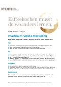 Praktikum Online-Marketing bei IFOM