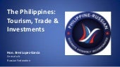 The Philippines: Tourism, Trade & I...