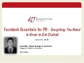 Facebook Strategy for Public Relati...