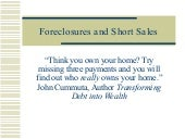 Foreclosures and Short Sales Novemb...