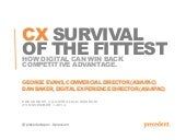 CX: Survival of the Fittest seminar - Sydney 25/11/14