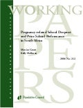 Pregnancy related school dropout and prior school performance in south africa