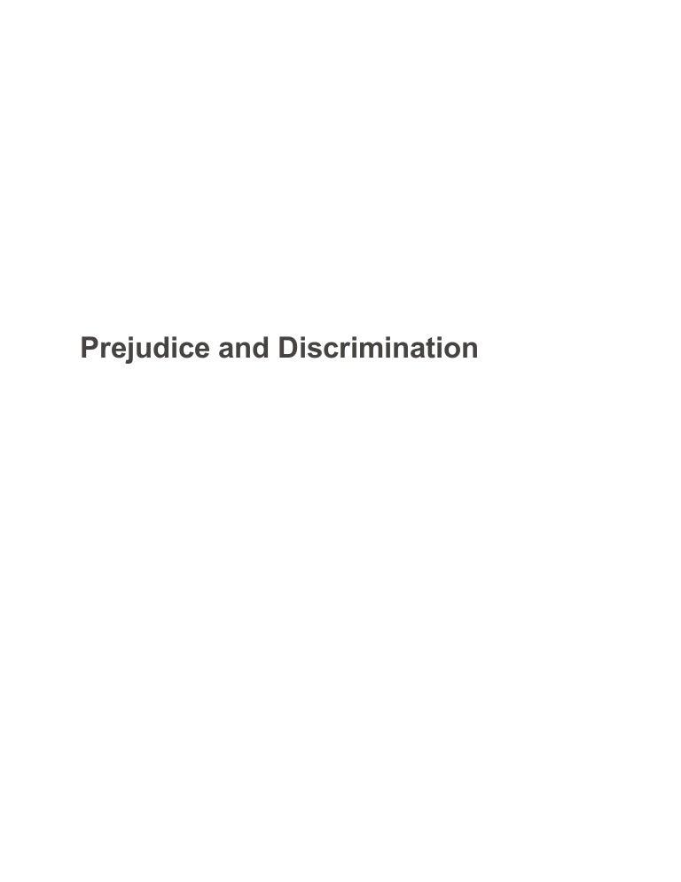 prejudice and discrimination sample paper   essay