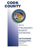 2013 Cook County Preliminary Budget Estimates