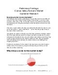 Preliminary Findings: Comox Valley Farmers' Market research December 2013