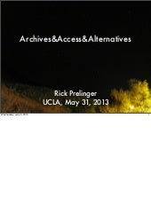 Archives&Access&Alternatives
