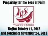 Preparing for the year of faith